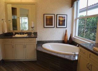 USA Interiors of Miami FL Custom designed marble tile and